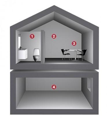 Potrivit pentru renovare - SkamoWall este potrivit atat pentru renovare, cat si pentru instalari noi
