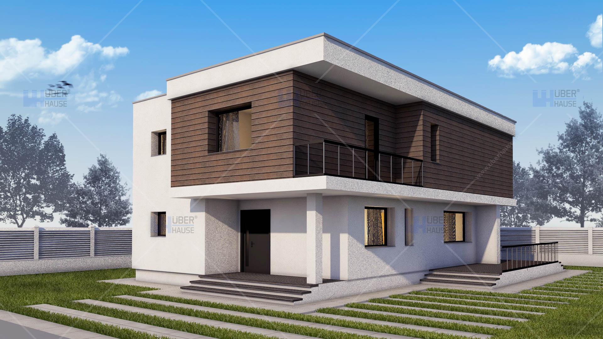 Proiecte case cu etaj uberhause for Arhitectura case cu mansarda