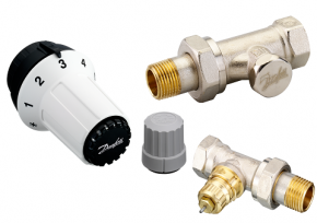 """Robinet radiator: RA-FN, 1/2"""" - Seturi cu conexiune laterala"""