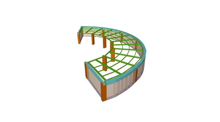 Solutie de consolidare a planseului peste parter cu grinzi metalice - Solutie de consolidare a planseului