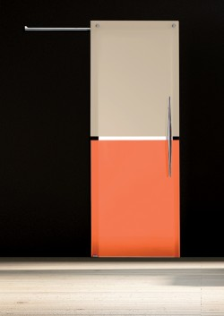 Usa glisanta cu montaj la exteriorul peretelui Bi•color orizontal - Usi glisante la exteriorul peretelui