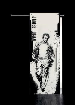 Usa glisanta cu montaj la exteriorul peretelui James Dean, figura intreaga - Usi glisante la exteriorul peretelui