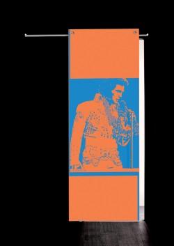 Usa glisanta cu montaj la exteriorul peretelui Elvis Presley, bust - Usi glisante la exteriorul peretelui