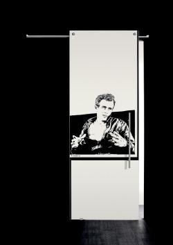 Usa glisanta la exteriorul peretelui James Dean, bust - Usi glisante la exteriorul peretelui