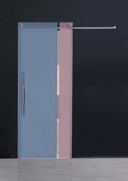 Usa glisanta cu montaj la exteriorul peretelui Bi•color vertical - Usi glisante la exteriorul peretelui