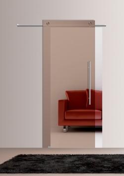 Usa glisanta cu montaj la exteriorul peretelui Bronzo transparenta - Usi glisante la exteriorul peretelui