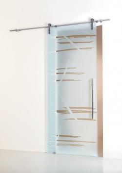 Usa glisanta cu montaj la exteriorul peretelui Graffio - Usi glisante la exteriorul peretelui