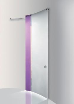 Usa glisanta cu montaj la exteriorul peretelui Grape - White opac - Usi glisante la exteriorul peretelui