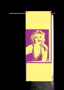 Usa glisanta cu montaj la exteriorul peretelui Marilyn Monroe, bust - Usi glisante la exteriorul peretelui