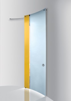 Usa glisanta cu montaj la exteriorul peretelui Zolfo - Ghiaccio opac - Usi glisante la exteriorul peretelui