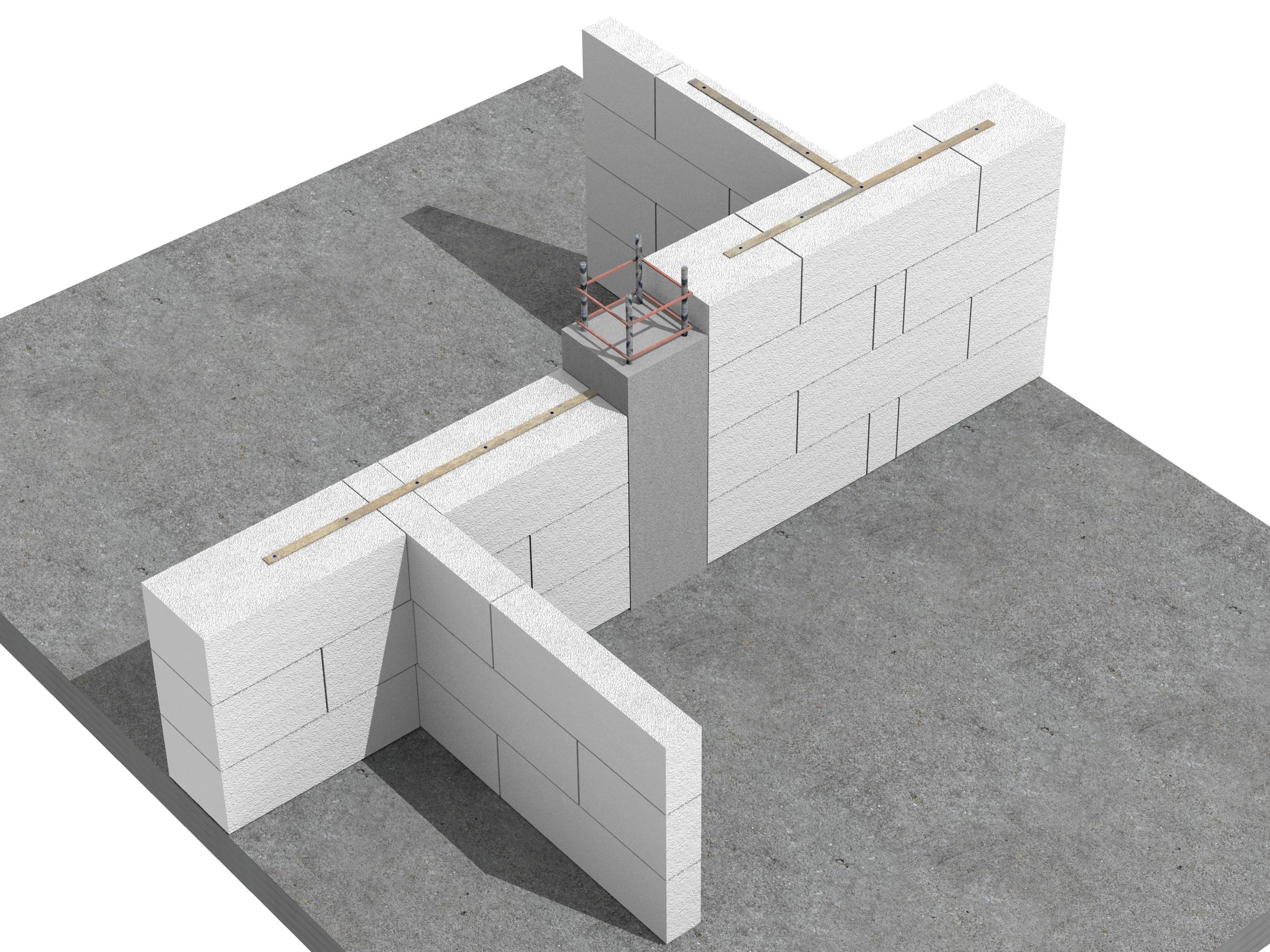 Detaliu de executie pereti de compartimentare - Pereti de compartimentare