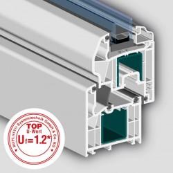 Profil 7001 MD cu 5 camere - Profile PVC pentru usi de interior