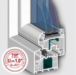 Profil 7001 MD cu 8 camere - Profile PVC pentru usi de interior