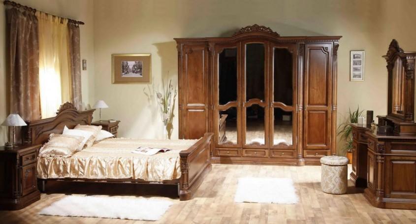 Dormitor Cristina - Mobila de dormitor din lemn masiv: standard sau la comanda?