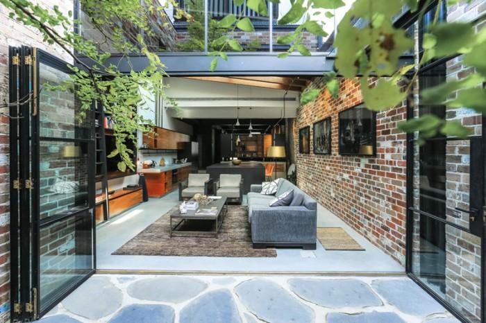 Un garaj este acum o zona de zi moderna si luminoasa - Un garaj este acum o zona de zi moderna si luminoasa