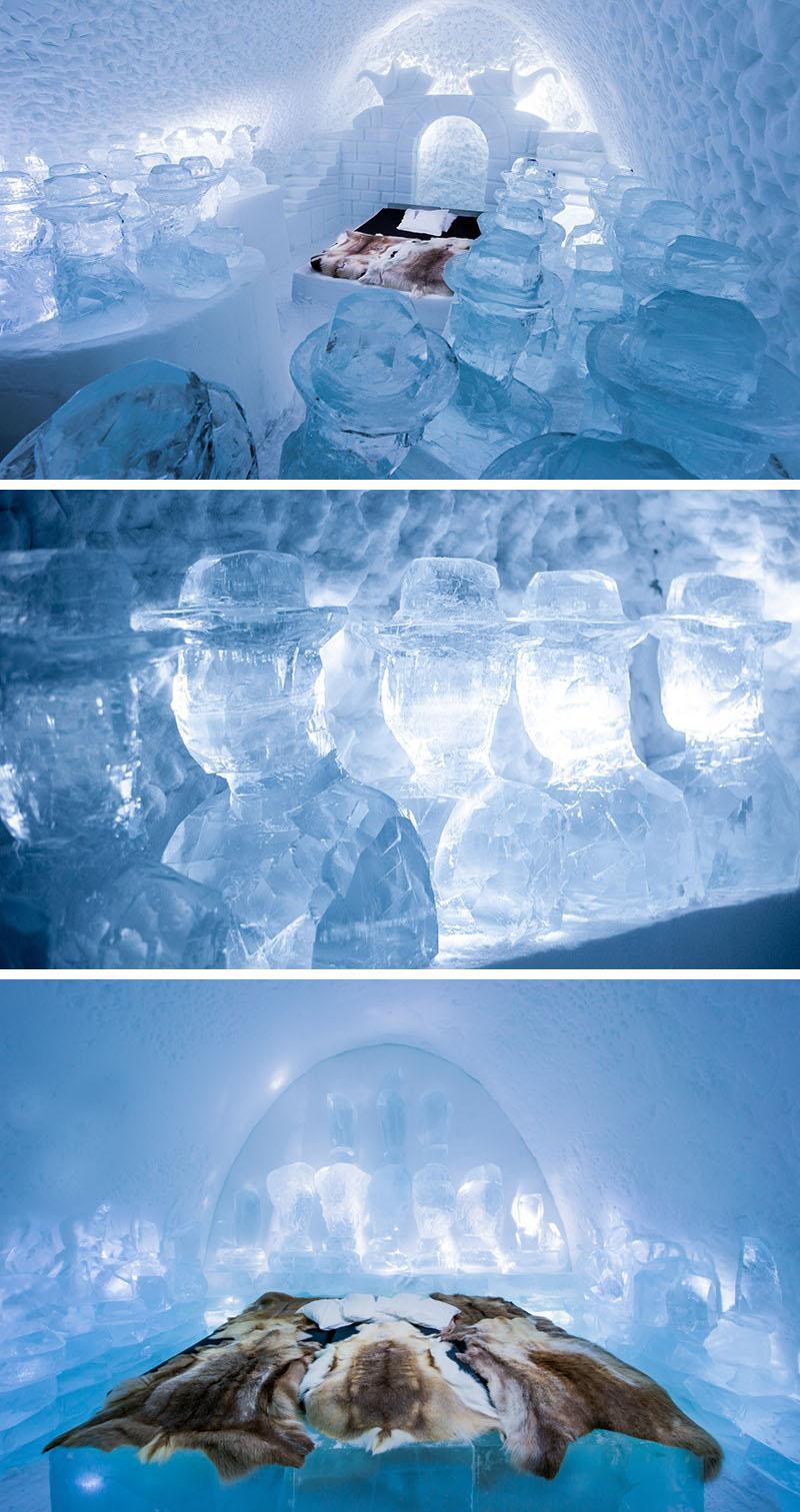 Apartamentele din aripa ICEHOTEL 365  - Design deosebit pentru un hotel de gheata