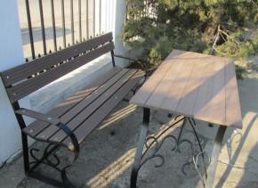 Banca si masa din lemn compozit - Lemn compozit pentru mici amenajari