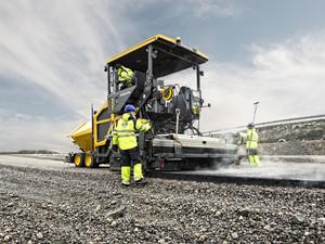 Finisor de asfalt pe roti - Volvo P6870C - Finisoare de asfalt pe roti - Volvo
