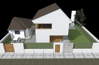 Locuinta unifamiliara P+E Bucuresti - str. Ursa mica - Proiecte locuine unifamiliare - AsiCarhitectura