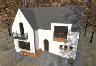 Casa de vacanta P+M - Nistoresti - Breaza - Proiecte locuine unifamiliare - AsiCarhitectura