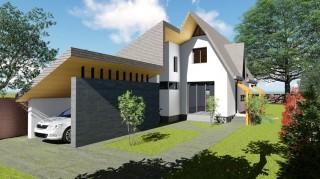 Locuinta P+M - 3 camere + garaj - Curcani - Proiecte locuine unifamiliare - AsiCarhitectura
