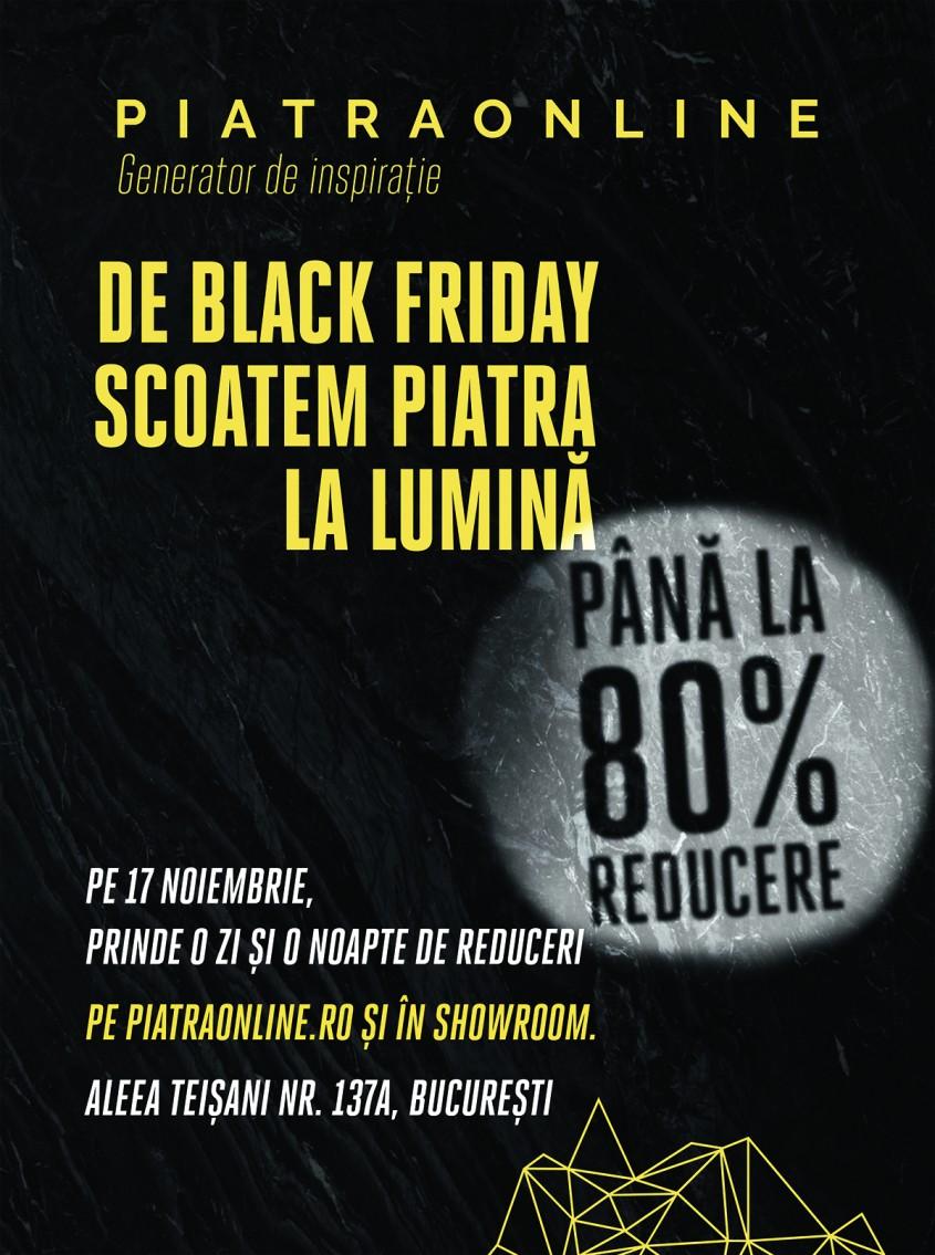 Black Friday PIATRAONLINE - De Black Friday PIATRAONLINE pregăteşte discounturi de până la 80% la peste