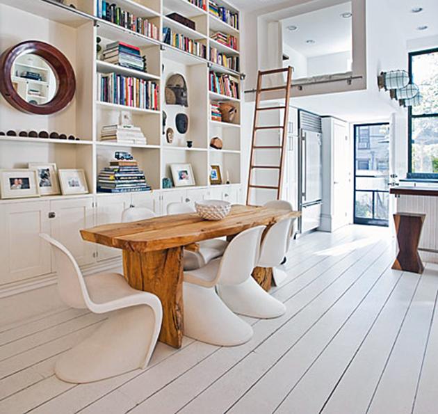 O noua moda mese rustice cu scaune moderne - O noua moda mese rustice cu scaune