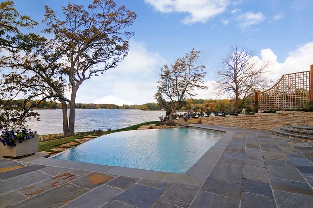 Piscina cu ardezie - Piatra naturala pentru piscina