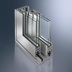 Profil din aluminiu neizolat pentru usi glisante cu ridicare Schüco ASS 50.NI  - Profil din aluminiu neizolat pentru usi glisante cu ridicare Schüco ASS 50.NI