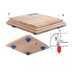 Solid Jump System parchet sportiv din lemn masiv pentru sali de sport polivalente - Tipuri de pardoseli sportive