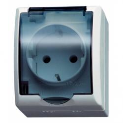 Priza schuko IP-44 capac transparent - Aparataj electric fala