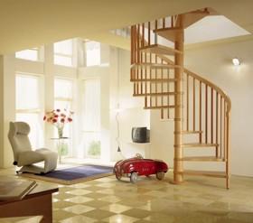 Scara in spirala cu trepte din lemn masiv - TREND - Scari interioare din lemn in spirala - ESTFELLER