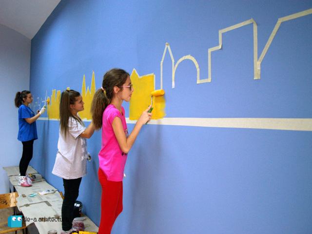 """In programul """"De-a arhitectura in scoala mea"""" elevii de la Liceul de Arte Plastice din Timisoara"""