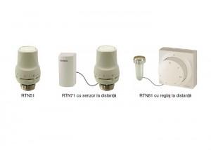 Actuatoare termostatice RTN51/RTN71/RTN81 - Distributie optimizata a costurilor in functie de consumul real