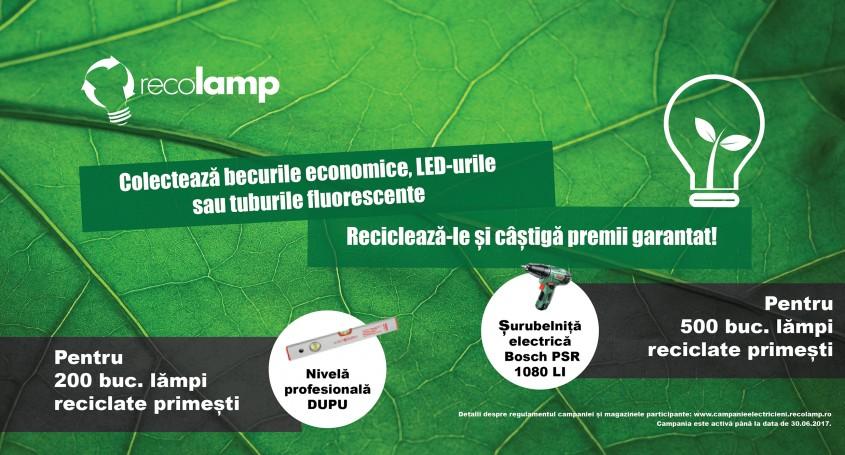 Colectează becuri economice LED-uri sau tuburi fluorescente și Recolamp îți oferă garantat premii! - Colectează becuri