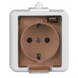 Priza schuko cu capac IP44 - Aparataj electric smart