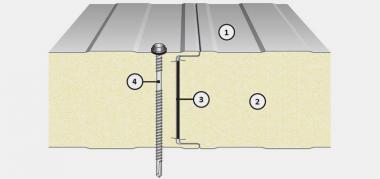 Panou termoizolant de perete cu imbinare vizibila IsoPer N - Panouri termoizolante de perete