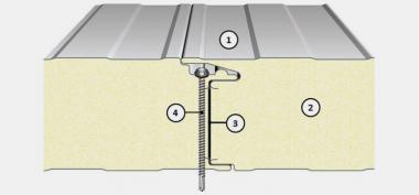 Panou termoizolant de perete cu imbinare ascunsa IsoPer A - Panouri termoizolante de perete