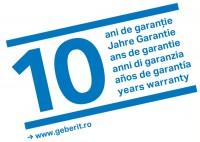 10 ani de garantie Geberit - Rezervoare incastrate