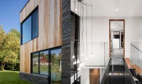Casa Hemmingford - Design modern si elemente rustice intr-o casa construita cu materiale naturale