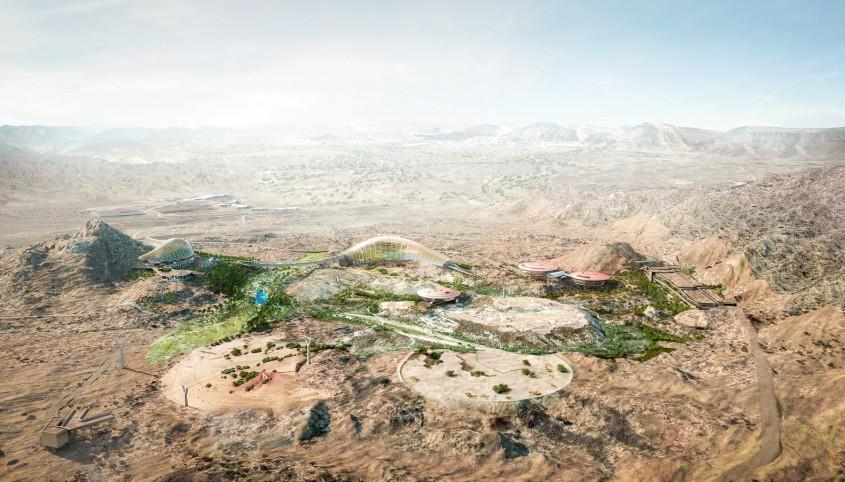 Primele imagini ale Gradinii Botanice Oman - Primele imagini cu proiectul celei mai mari grădini botanice