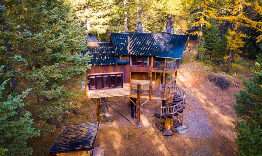 Casa de vacanta Montana Treehouse Retreat - Patru arbori cresc in interiorul acestei cabana