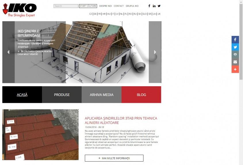 IKO website - ACASA - Cu mandrie va prezentam NOUL website IKO!