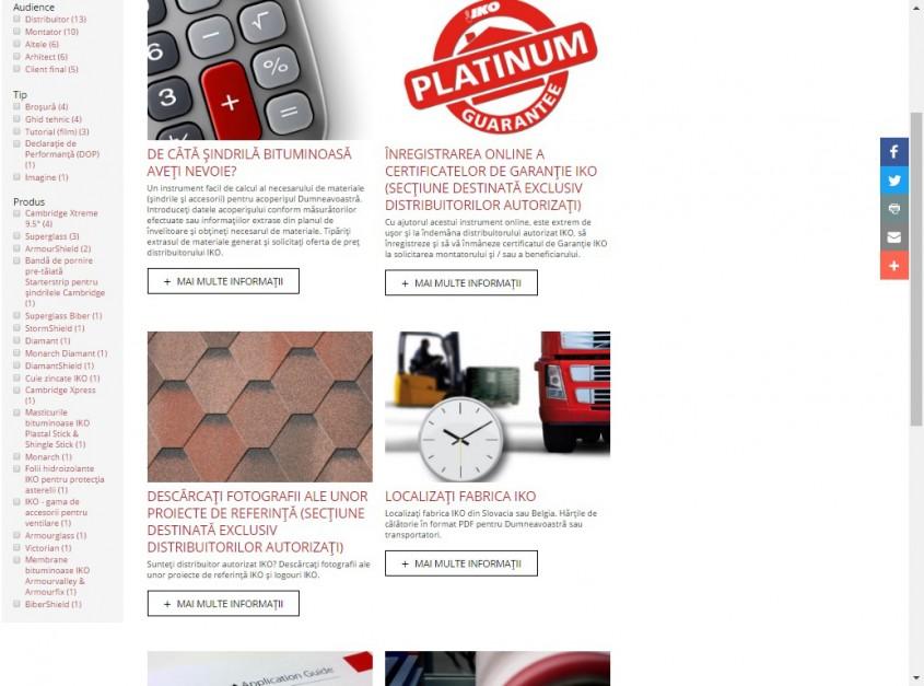 IKO website - ARHIVA MEDIA - Cu mandrie va prezentam NOUL website IKO!
