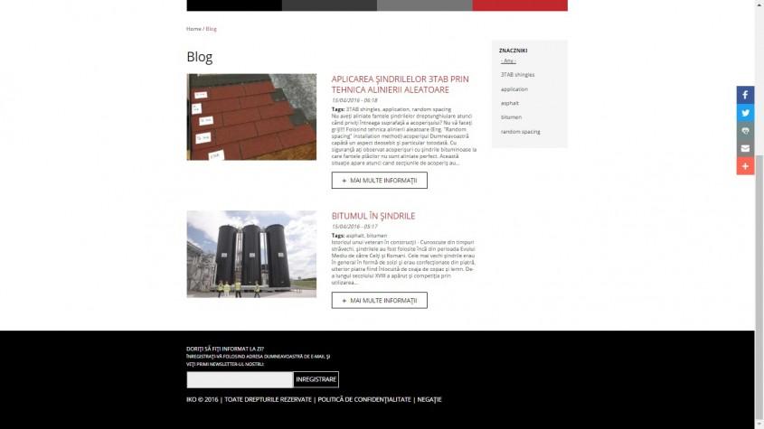 IKO website - BLOG - Cu mandrie va prezentam NOUL website IKO!