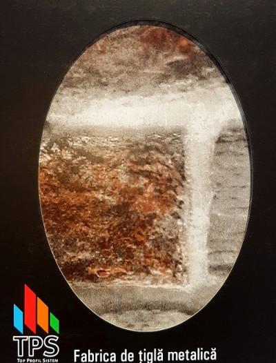 Tabla care imita piatra - Garduri metalice