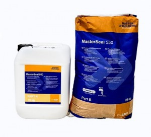 MasterSeal 550 - Membrana hidroizolatoare rezistenta la presiune pozitiva si negativa a apei, si cu rol de protectie anti-carbonatare - Pelicule hidroizolante