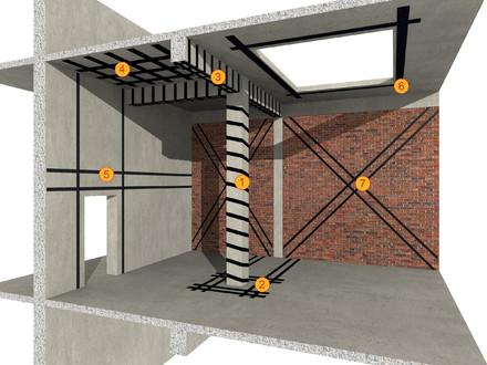 Consolidarea structurilor din beton armat si zidarie SikaCarboDur - Consolidari structurale cu materiale compozite Sika CarboDur si SikaWrap