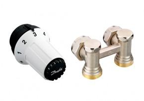 Robinet radiator: element H RLV-KS - Seturi cu conexiune inferioara