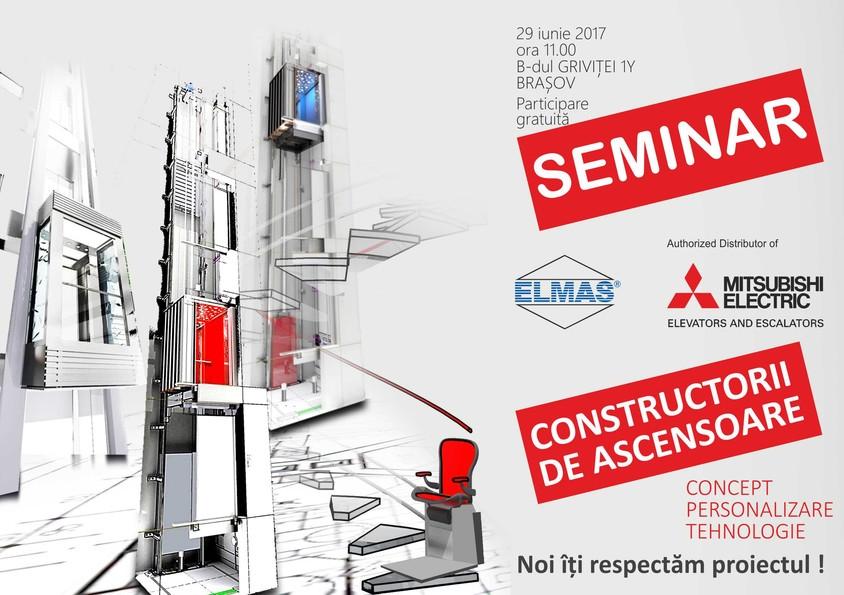 """CONSTRUCTORII DE ASCENSOARE - concept personalizare tehnologie"""" - un nou seminar marca Elmas - ""CONSTRUCTORII DE"